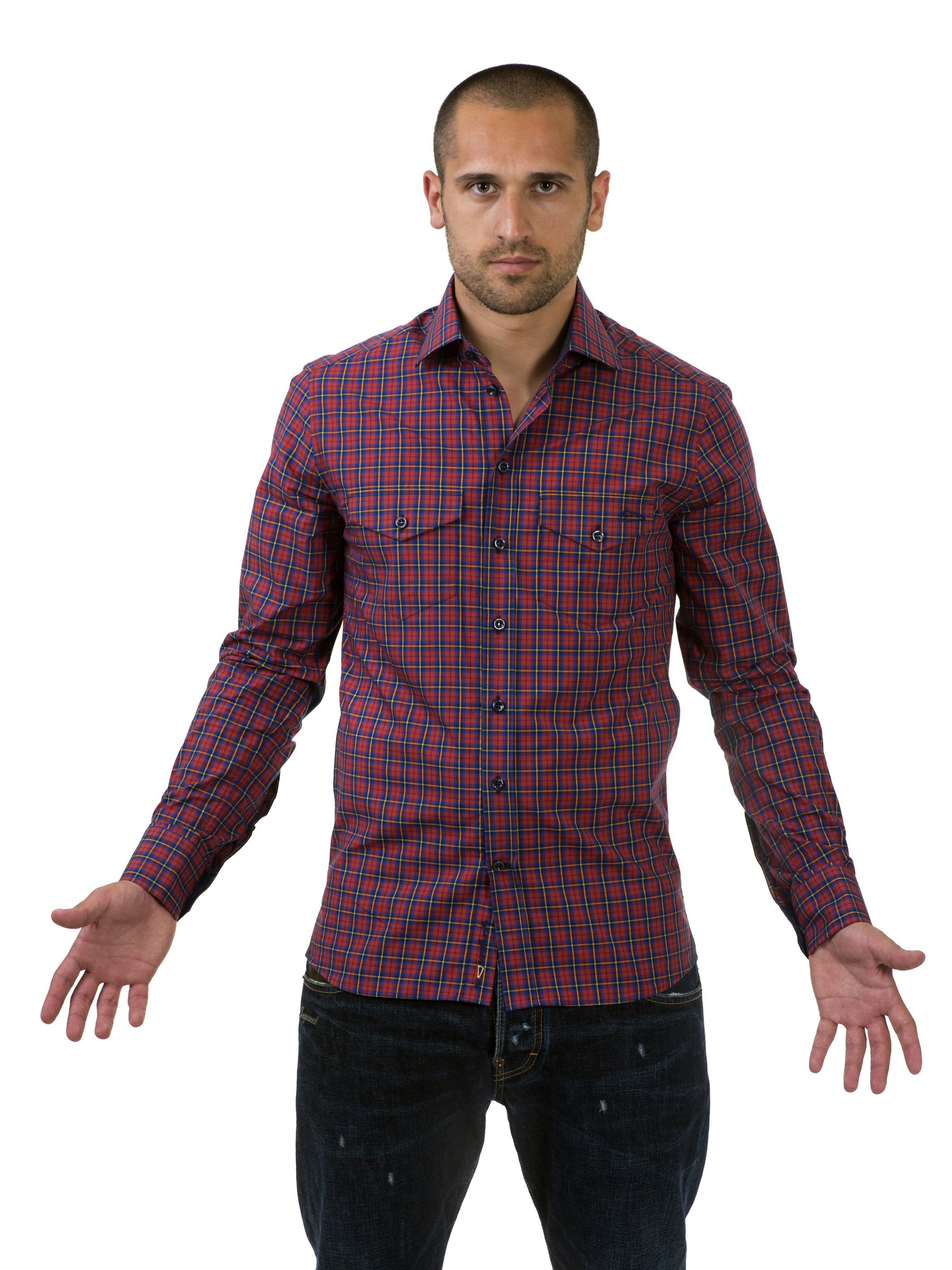 Shirt Red checkered Professional S